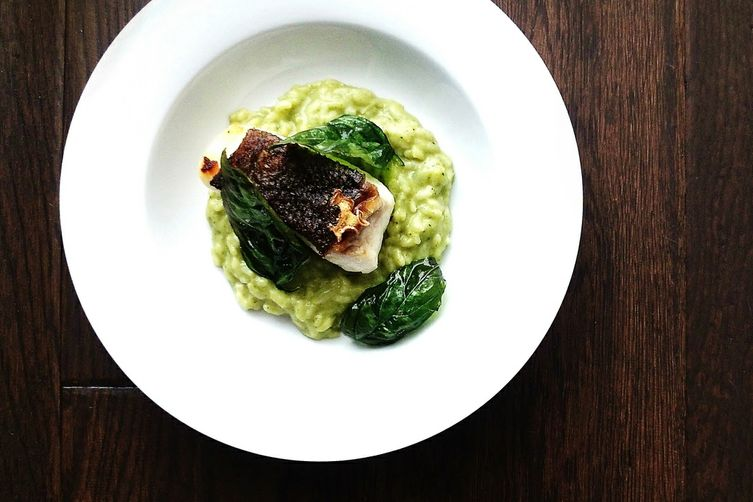 Green Coconut Risotto