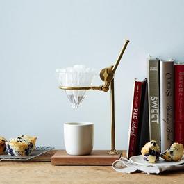 Brass & Walnut Pour Over Coffee Stand