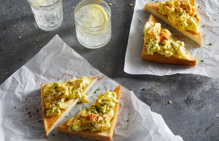 Deviled Egg Salad on Toast Is the Best of *All* Worlds