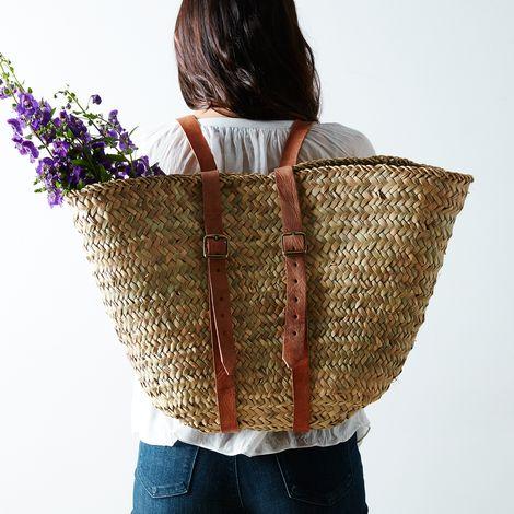 Woven Market Backpack