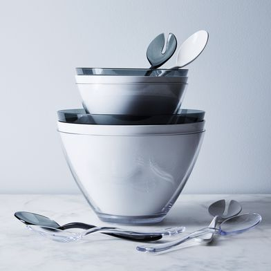 Outdoor Italian Salad Bowls & Salad Servers