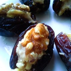 Goat Cheese and Walnut Stuffed Dates