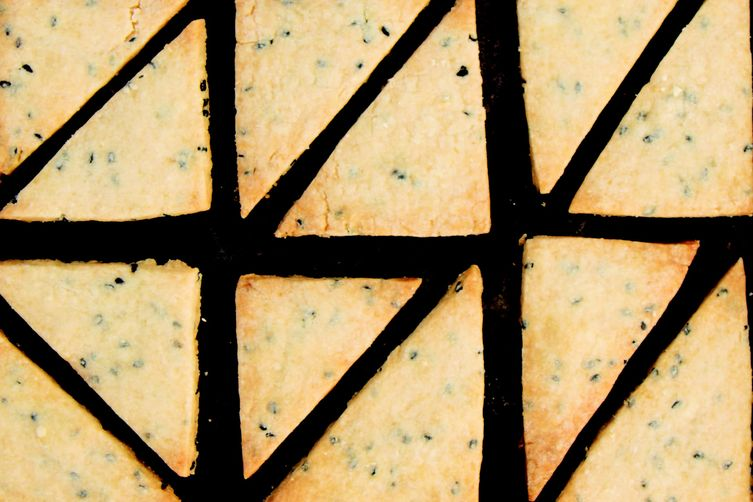 Black Sesame Brown Sugar Shortbread