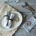 Precision-Cut Napkin Rings (Set of 4)
