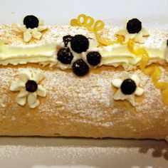 Luscious Lemon Cream Roll with Summer Berries