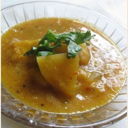 Apple Dal with mustard
