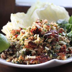 Lao Crispy Rice Salad - Nam Khao