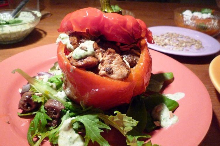 Oz' Mixed Grill with Green Tahina Sauce