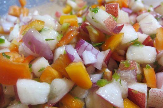 Nectarine-Mint Salsa