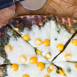Kale Pesto Grilled Pizza