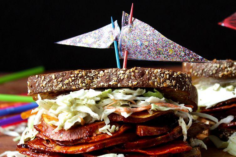 Vegan BBQ sandwich