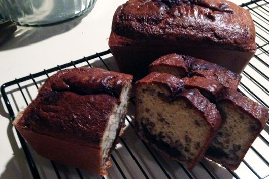 Peanut Butter, Chocolate and Nut Loaf