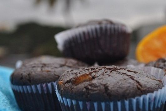 Candied Orange and Chocolate muffins