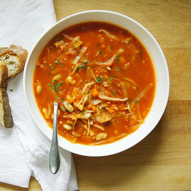cabbage & white bean soup
