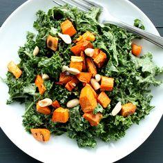 Spicy Peanut Kale Salad