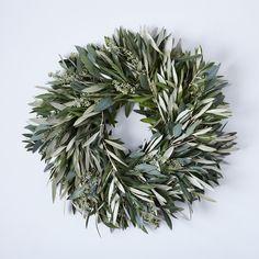 Fresh Olive & Eucalyptus Wreath