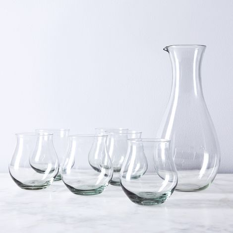 Ngwenya Recycled Glass Pitcher & Whiskey Tumblers