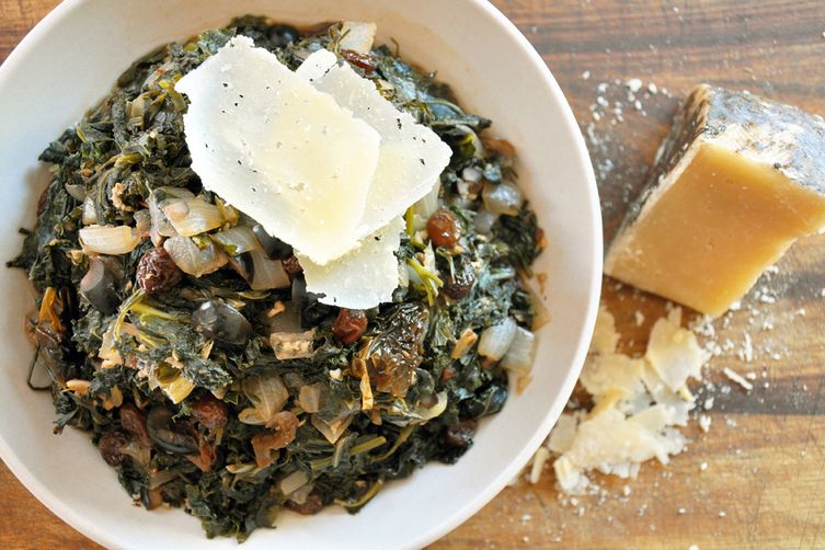Smothered Spanish Greens with Aged Manchego