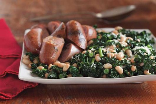 Italian White Beans and Garlicky Swiss Chard