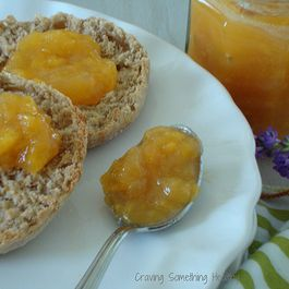 Peach Jam with Lavender and Honey
