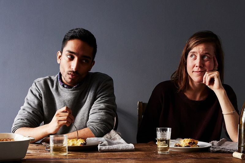 Did one of these Food52 editors just push food on the other? Could be. It *could* be.