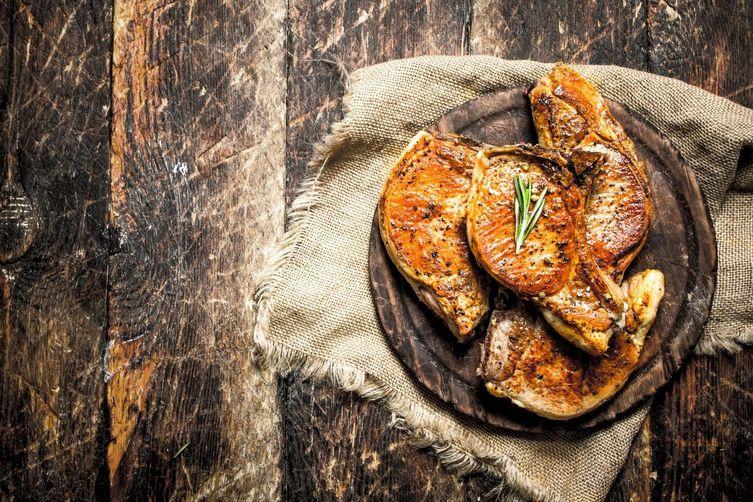 Cedar Plank Pork Chops