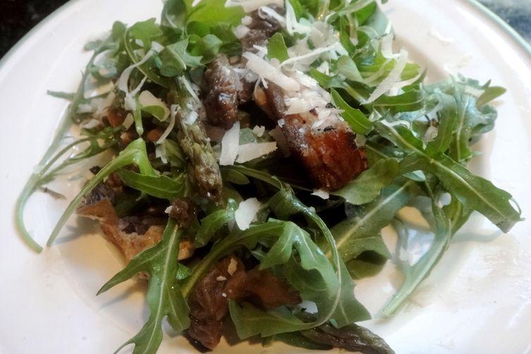 Pork Belly and Morel Spring Salad