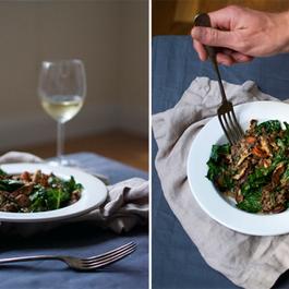 Warm Kale & Lentil Salad