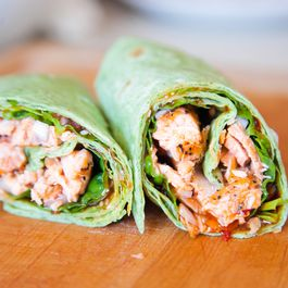 Sweet Chili Salmon Wrap