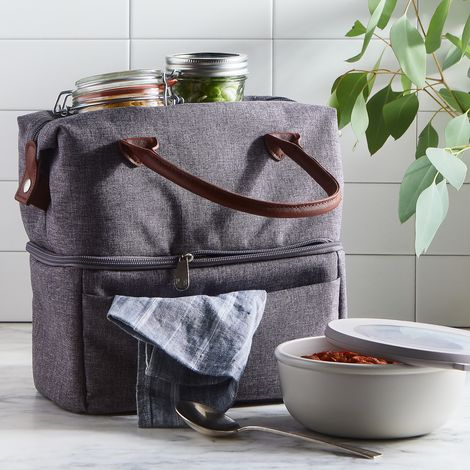 Two-Tiered Insulated Lunch Tote