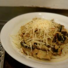 The easiest eggplant and lemon zest spaghetti