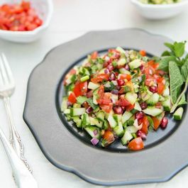 Pakistani Kachumber - Spiced tomato, cucumber and red onion salad