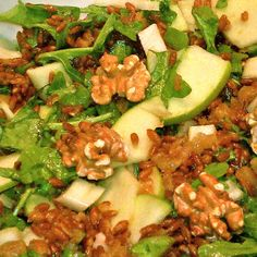 Wheatberry Salad with Apples & Walnuts