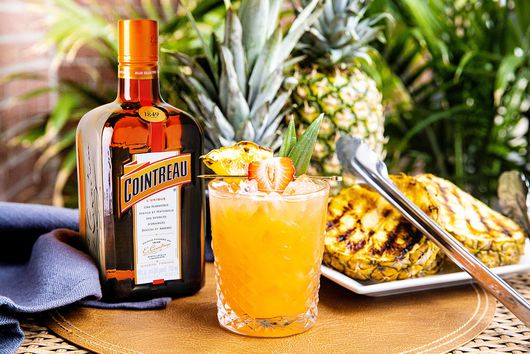 Bourbon Punch with Grilled Pineapple