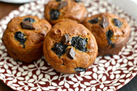 Pumpkin Blueberry Cashew Chocolate Muffins
