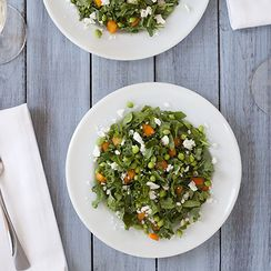 Sweet Pea & Kale Salad with Lemon Mint Vinaigrette