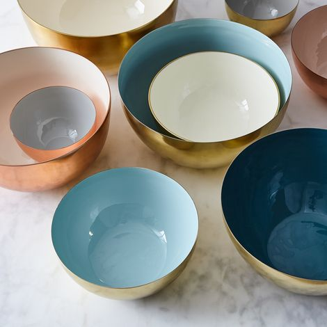 Copper and Brass Louise Bowls