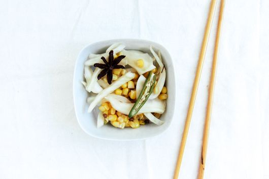 Pickled Corn and Fennel