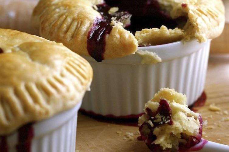 Mini Lemon-Blueberry Pies