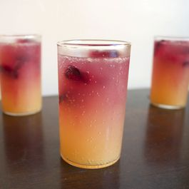 Hibiscus Ice Cubes for a Tiki Party
