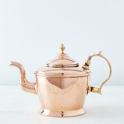 Vintage Copper William Soutter Teapot, Mid 19th Century