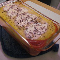 Polenta, Sausage and Mozzarella
