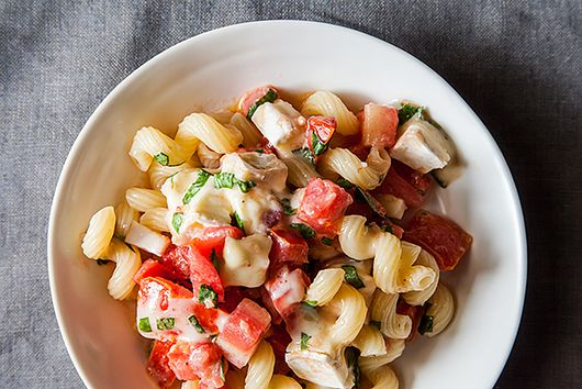 Pasta with Tomatoes, Garlic, Basil & Brie