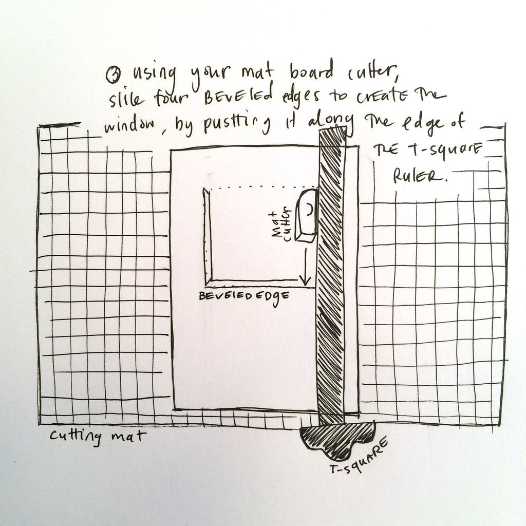 How to Cut a Mat Board Part 3