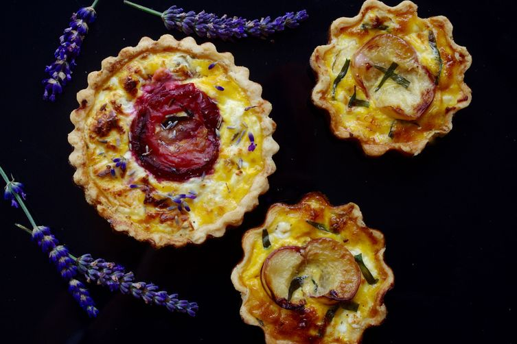 Goat's Cheese and Stone Fruit Tarts, Two Ways