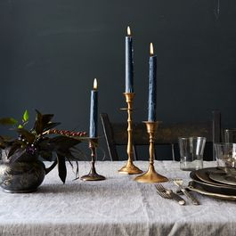 Food52 Vintage-Inspired Brass Mixed Candlesticks (Set of 3)