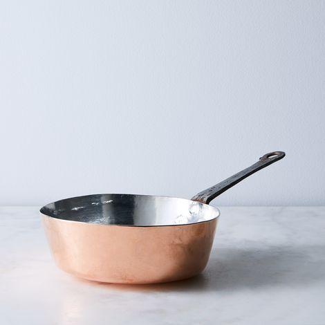 Vintage Copper French Deep Sauté Pan, Late 19th Century