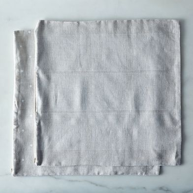 """Hand-printed Linen Pillow Cover, 18"""" x 18"""""""