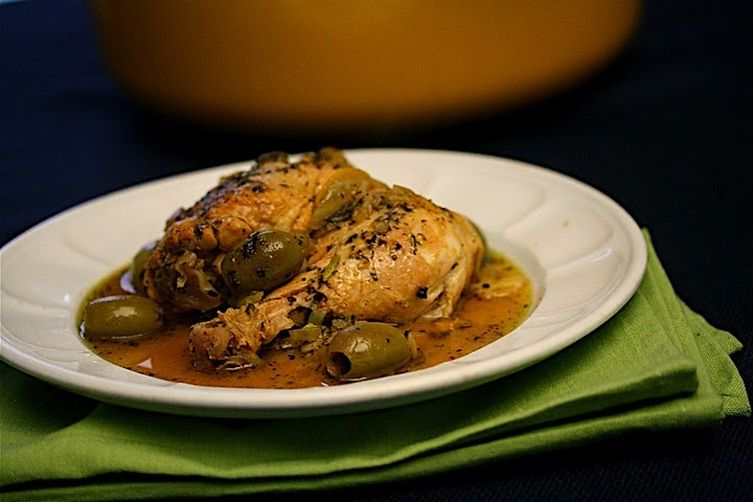Chicken Tagine with Fennel, Preserved Lemons, and Green Olives