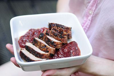 Plum Sauced Pork Tenderloin